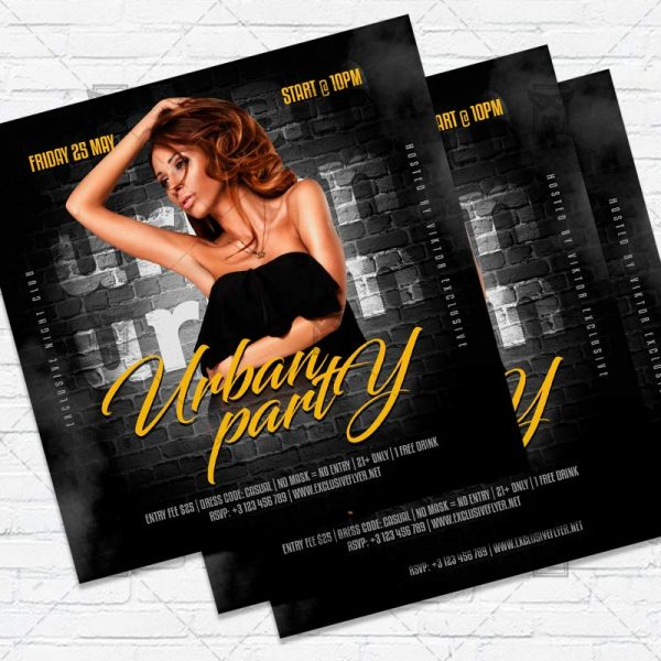 Urban Party- Flyer PSD Template