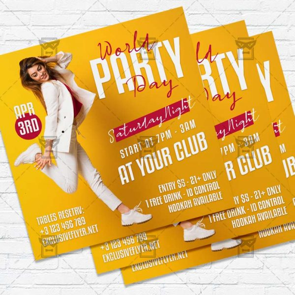 World Party Day - Flyer PSD Template