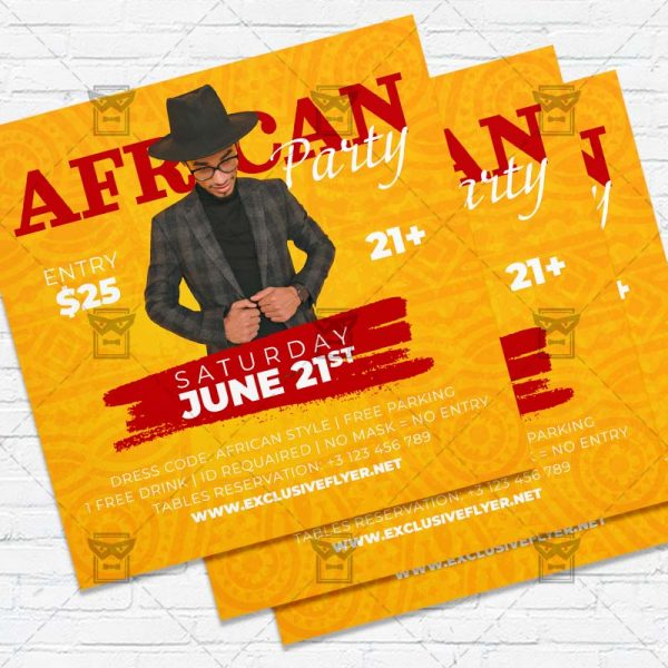 African Party - Flyer PSD Template