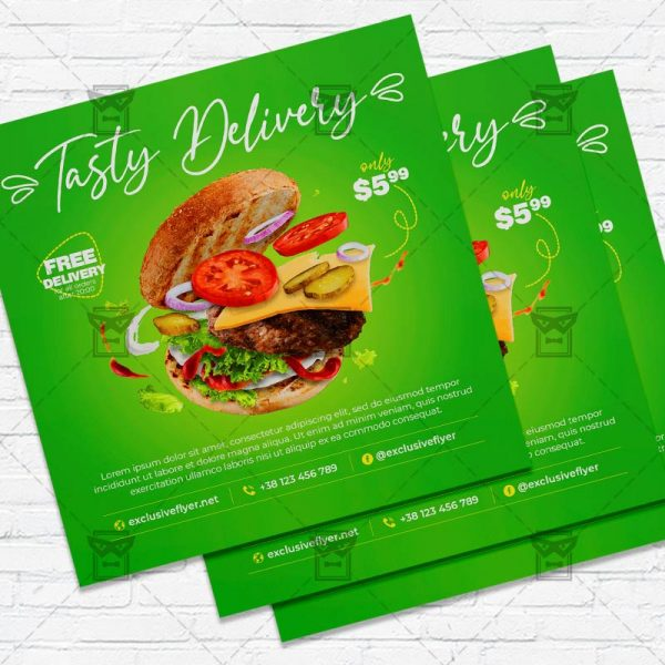 Burger Delivery - Flyer PSD Template