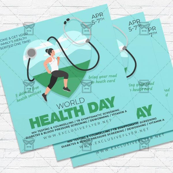 Health Day - Flyer PSD Template