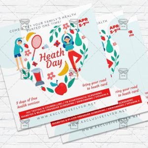 Health Day Event - Flyer PSD Template