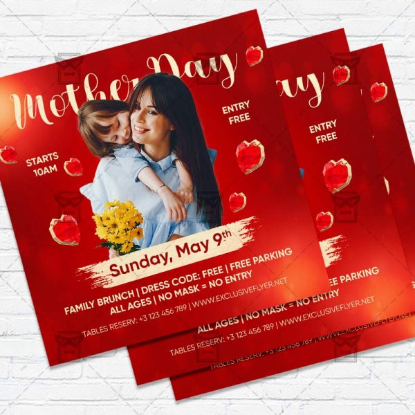 Mother Day - Flyer PSD Template