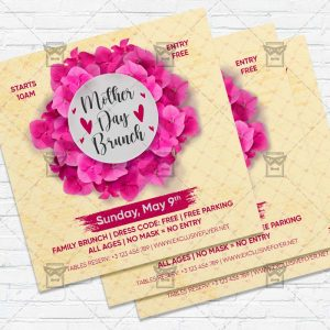 Mother Day Brunch - Flyer PSD Template