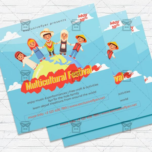 Multicultural Event - Flyer PSD Template