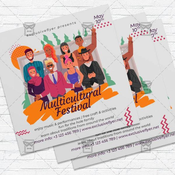Multicultural Festival - Flyer PSD Template