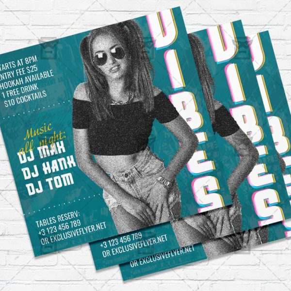 Night Vibes - Flyer PSD Template