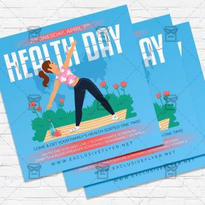 World Health Day - Flyer PSD Template