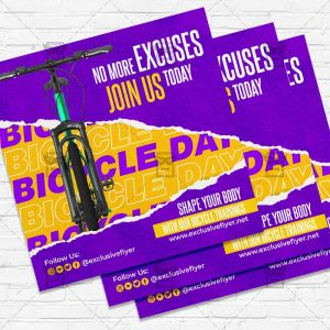 Bicycle Day - Flyer PSD Template