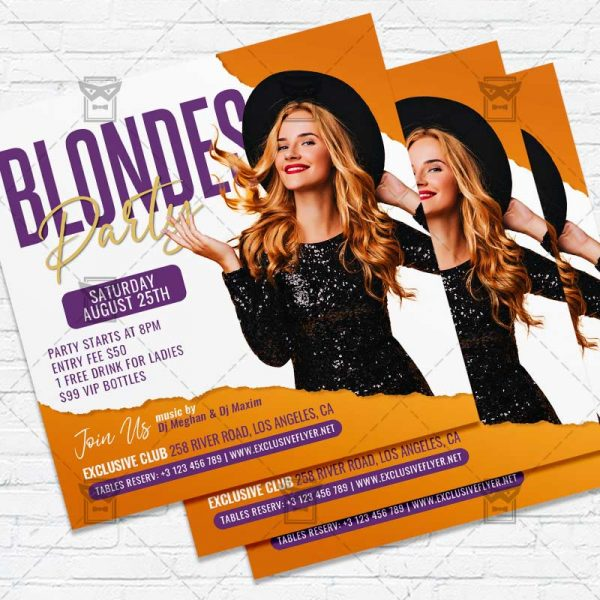 Blondes Party - Flyer PSD Template