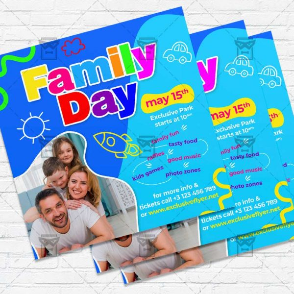 Family Day - Flyer PSD Template