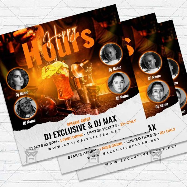 Happy Hours Party - Flyer PSD Template