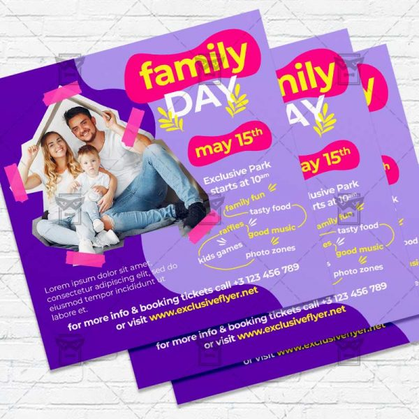 International Day of Families - Flyer PSD Template