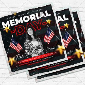 Memorial Day Party - Flyer PSD Template