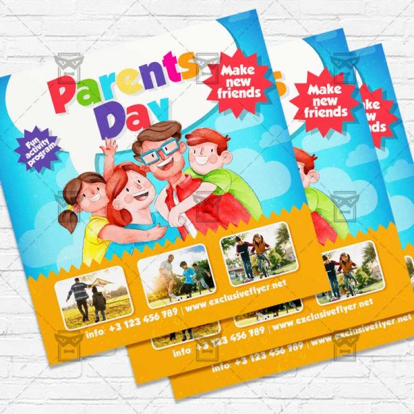 Parents Day - Flyer PSD Template