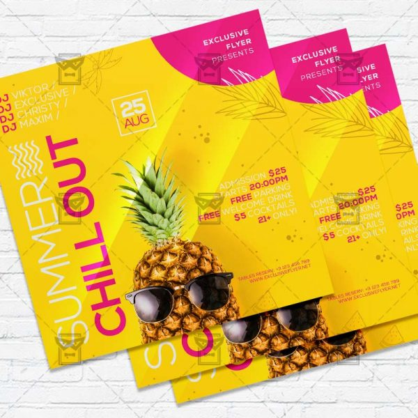 Summer Chillout - Flyer PSD Template