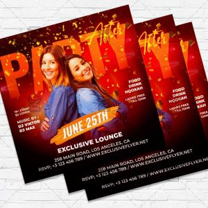 After Party - Flyer PSD Template