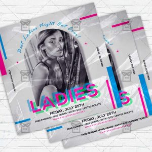 Ladies Night Out - Flyer PSD Template
