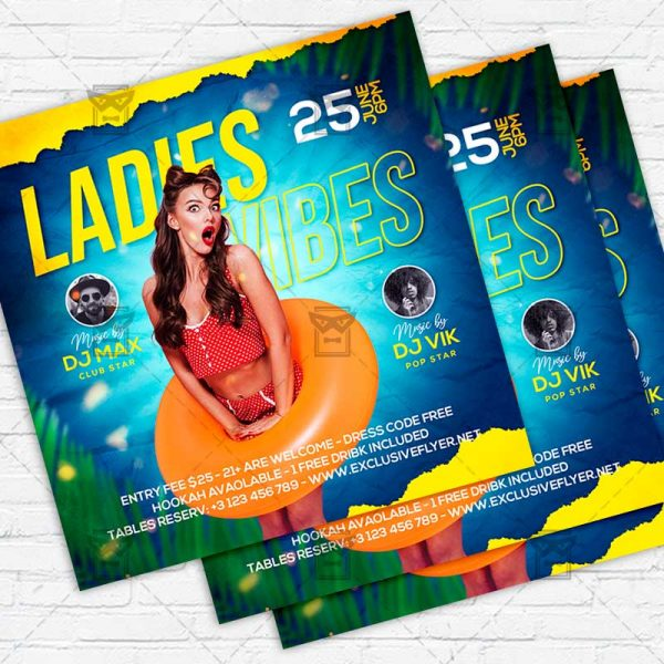 Ladies Vibes - Flyer PSD Template