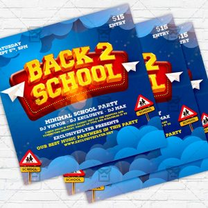 Back to School - Flyer PSD Template
