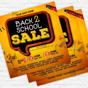 Back to School Sale - Flyer PSD Template
