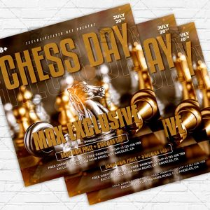Chess Day - Flyer PSD Template