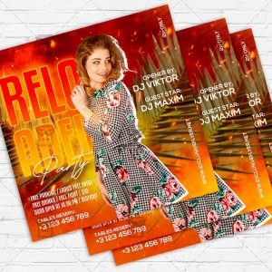 Reloaded Night - Flyer PSD Template