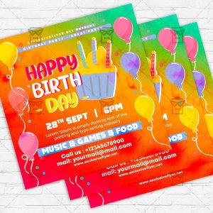 Birthday Kids Party - Flyer PSD Template