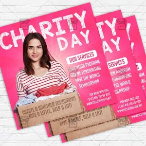 Charity Day - Flyer PSD Template