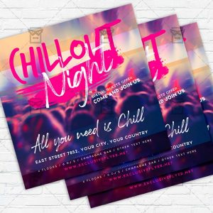 Chill Night - Flyer PSD Template