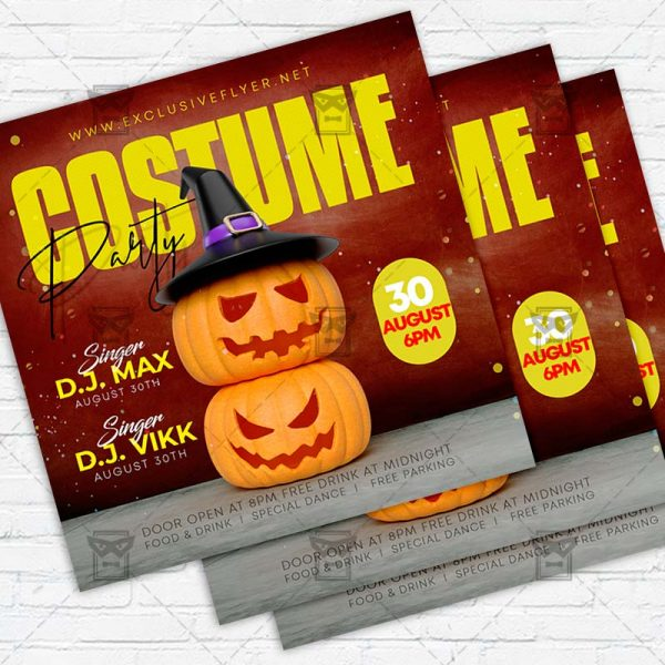 Costume Party - Flyer PSD Template