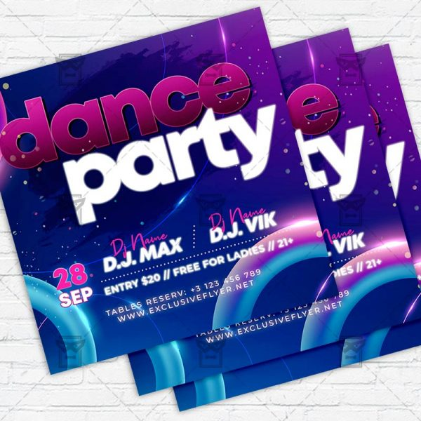 Dance Party - Flyer PSD Template
