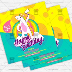 Kids Bday Party - Flyer PSD Template