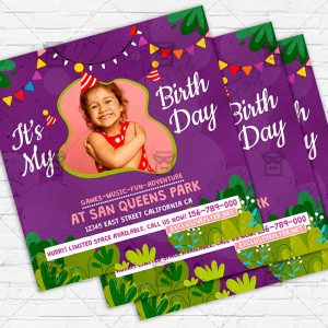 Kids Party - Flyer PSD Template