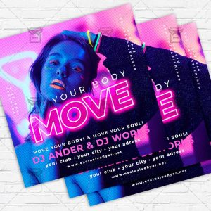 Move Your Body - Flyer PSD Template