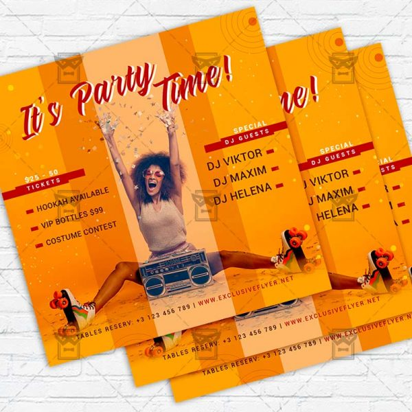 Party Time - Flyer PSD Template