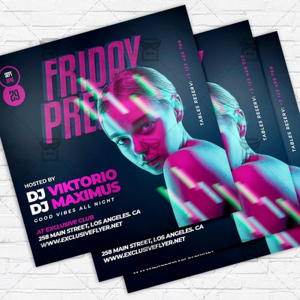 Friday Premier - Flyer PSD Template