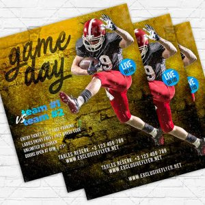 Game Day - Flyer PSD Template