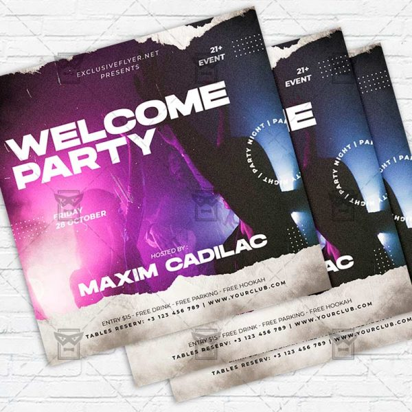 Welcome Night - Flyer PSD Template
