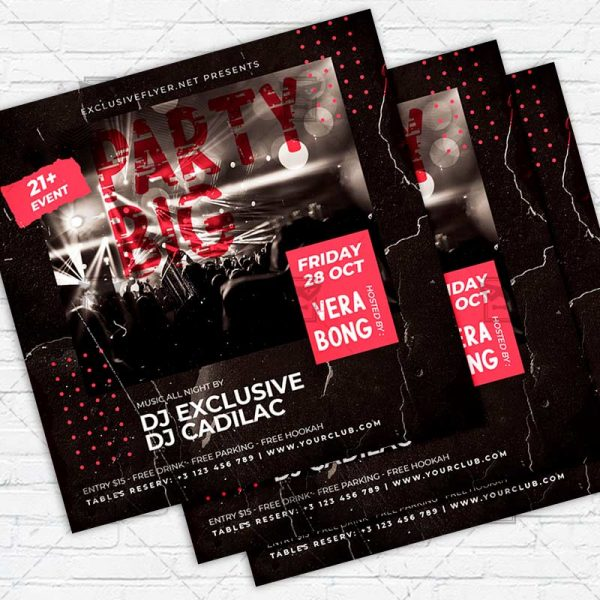 Big Party - Flyer PSD Template | ExclusiveFlyer