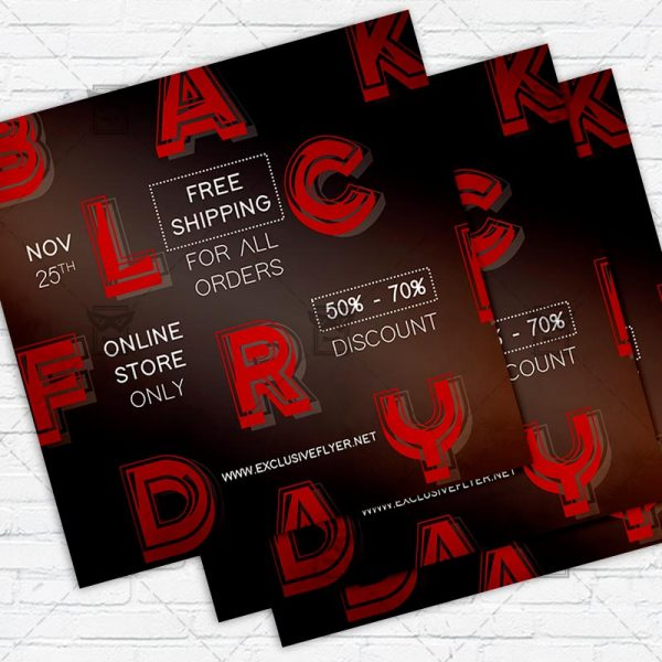 Black Friday - Flyer PSD Template   ExclusiveFlyer