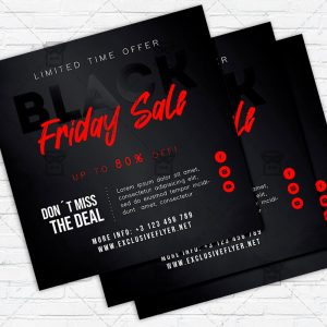 Black Friday Discount - Flyer PSD Template | ExclusiveFlyer