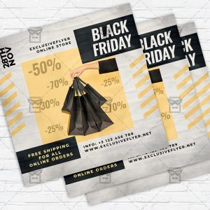 Black Friday Sale - Flyer PSD Template | ExclusiveFlyer