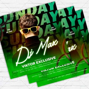 Funday Sunday - Flyer PSD Template | ExclusiveFlyer
