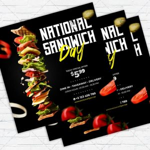 National Sandwich Day - Flyer PSD Template | ExclusiveFlyer