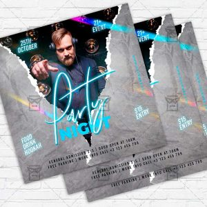 Party Night - Flyer PSD Template | ExclusiveFlyer
