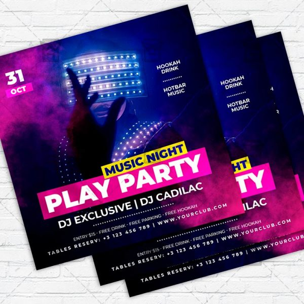 Play Party - Flyer PSD Template | ExclusiveFlyer