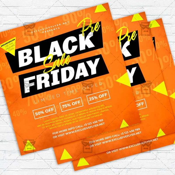 Pre Black Friday Sale - Flyer PSD Template   ExclusiveFlyer