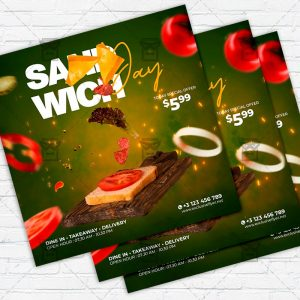 Sandwich Day - Flyer PSD Template | ExclusiveFlyer