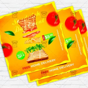 Sandwich Day Event - Flyer PSD Template | ExclusiveFlyer